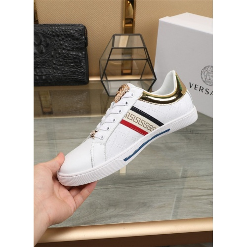 Replica Versace Casual Shoes For Men #807535 $76.00 USD for Wholesale