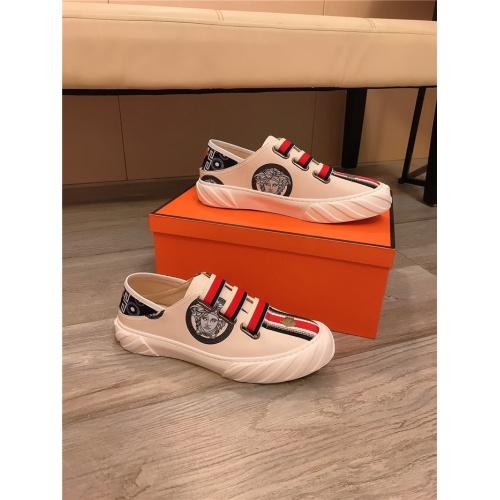 Versace Casual Shoes For Men #807683 $76.00, Wholesale Replica Versace Casual Shoes