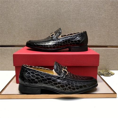 Ferragamo Salvatore FS Leather Shoes For Men #807691