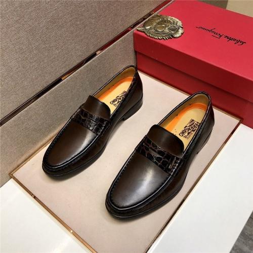Ferragamo Salvatore FS Leather Shoes For Men #807698