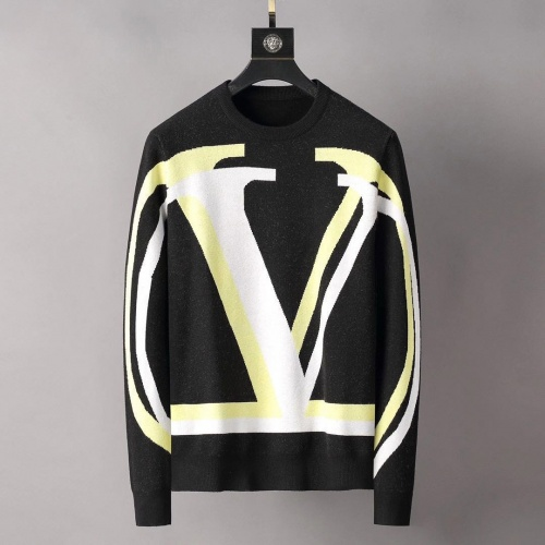 Valentino Sweaters Long Sleeved O-Neck For Men #807769 $42.00 USD, Wholesale Replica Valentino Sweaters