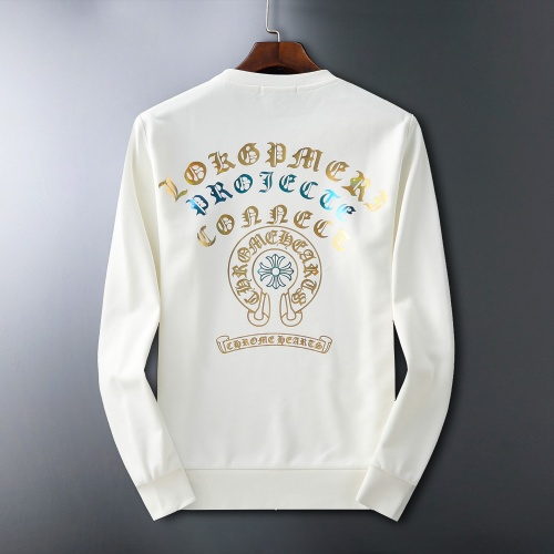 Chrome Hearts Hoodies Long Sleeved O-Neck For Men #807778 $60.00 USD, Wholesale Replica Chrome Hearts Hoodies