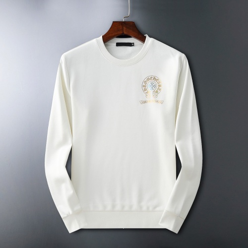 Replica Chrome Hearts Hoodies Long Sleeved O-Neck For Men #807778 $60.00 USD for Wholesale