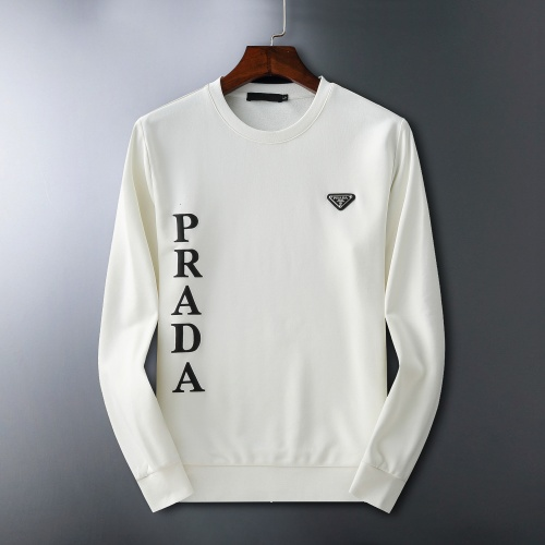 Prada Hoodies Long Sleeved O-Neck For Men #807780