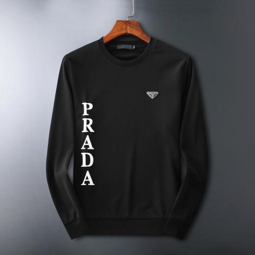 Prada Hoodies Long Sleeved O-Neck For Men #807781