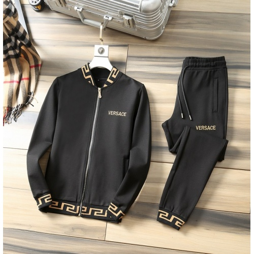 Versace Tracksuits Long Sleeved Zipper For Men #807811 $98.00, Wholesale Replica Versace Tracksuits