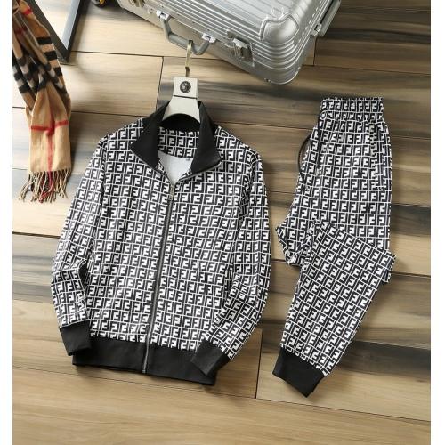 Fendi Tracksuits Long Sleeved Zipper For Men #807812