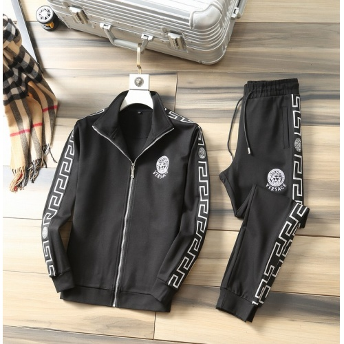 Versace Tracksuits Long Sleeved Zipper For Men #807817 $98.00, Wholesale Replica Versace Tracksuits