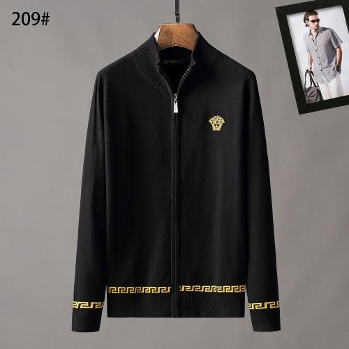 Versace Sweaters Long Sleeved Zipper For Men #807955