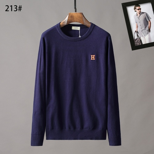 Hermes Sweaters Long Sleeved O-Neck For Men #807965 $42.00, Wholesale Replica Hermes Sweaters