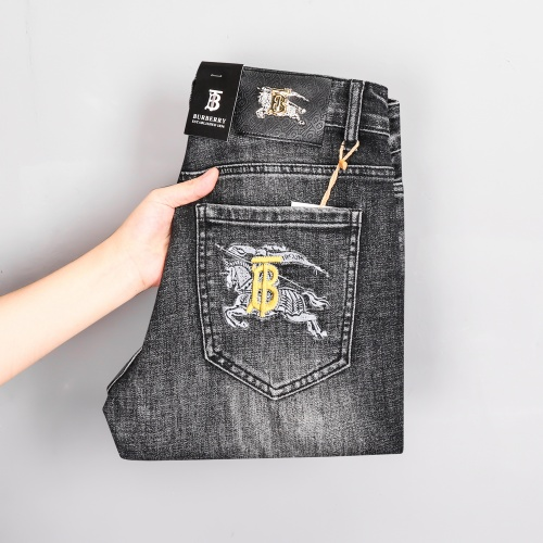 Replica Burberry Jeans Trousers For Men #807980 $45.00 USD for Wholesale