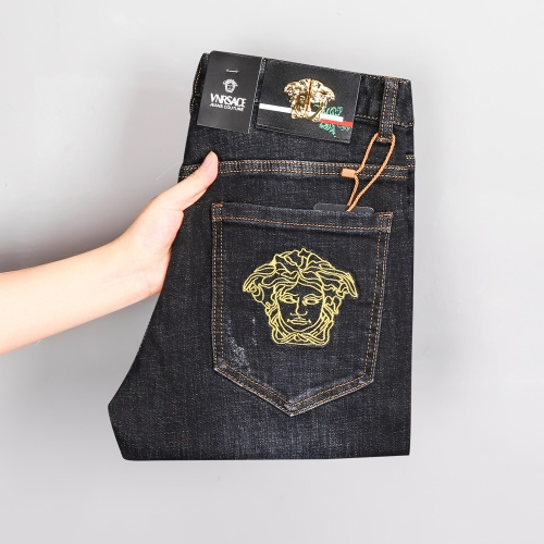 Replica Versace Jeans Trousers For Men #807989 $45.00 USD for Wholesale