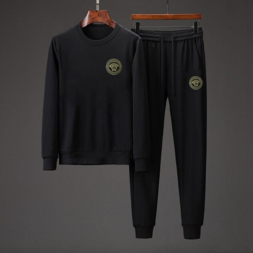 Versace Tracksuits Long Sleeved O-Neck For Men #808034 $76.00 USD, Wholesale Replica Versace Tracksuits