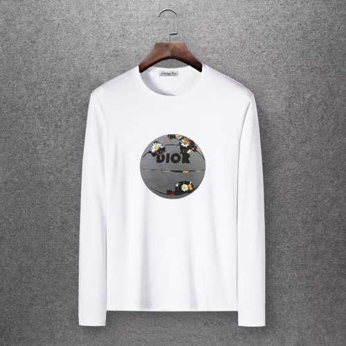 Christian Dior T-Shirts Long Sleeved O-Neck For Men #808351