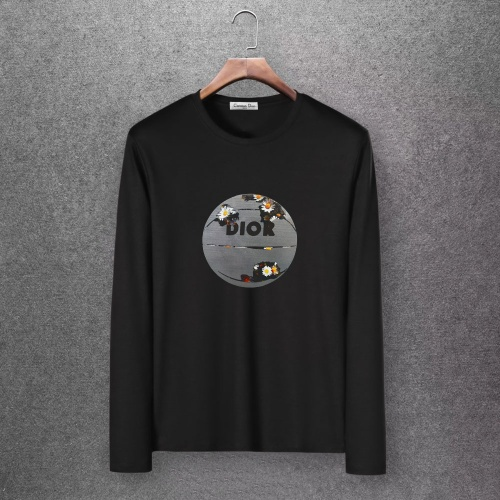 Christian Dior T-Shirts Long Sleeved O-Neck For Men #808353