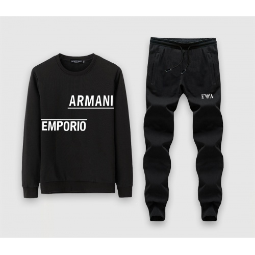 Armani Tracksuits Long Sleeved O-Neck For Men #808532