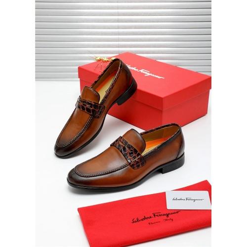 Ferragamo Salvatore FS Leather Shoes For Men #808597
