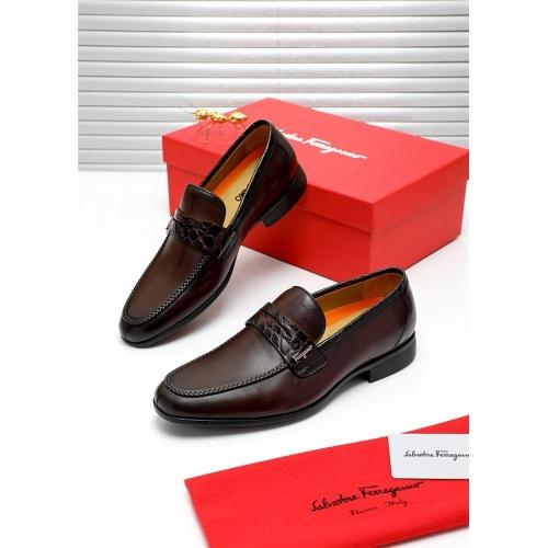 Ferragamo Salvatore FS Leather Shoes For Men #808598