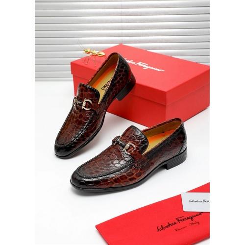 Ferragamo Salvatore FS Leather Shoes For Men #808604