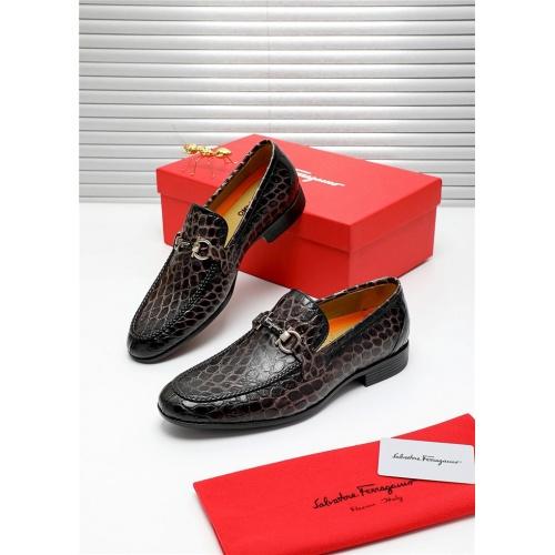 Ferragamo Salvatore FS Leather Shoes For Men #808605