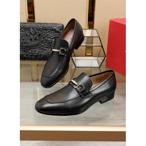 Ferragamo Salvatore FS Leather Shoes For Men #808701