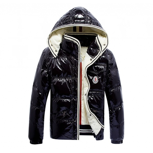 Moncler Down Feather Coat Long Sleeved Zipper For Men #808795