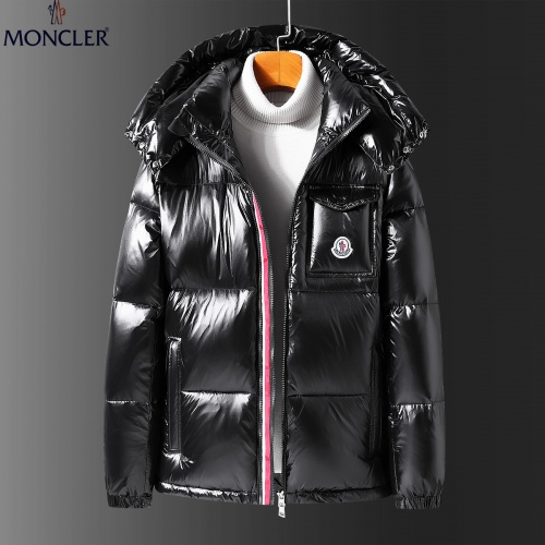 Moncler Down Feather Coat Long Sleeved Zipper For Men #808800