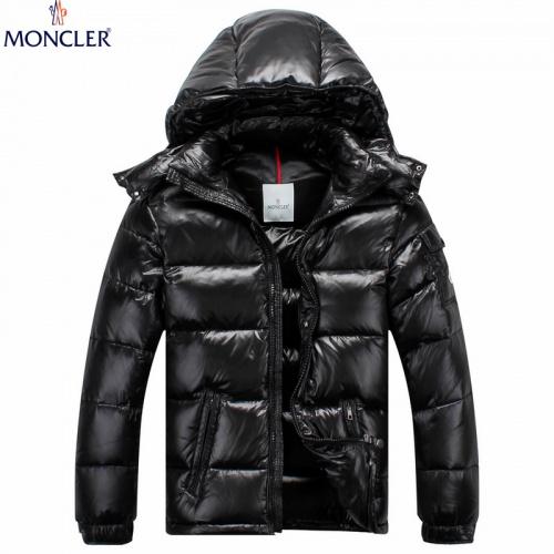 Moncler Down Feather Coat Long Sleeved Zipper For Men #808801
