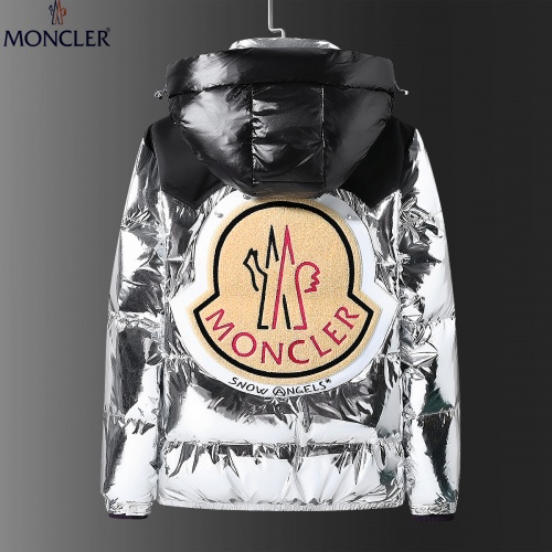 Moncler Down Feather Coat Long Sleeved Zipper For Men #808804