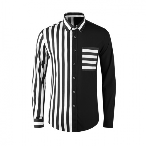 Thom Browne TB Shirts Long Sleeved Polo For Men #809014 $80.00, Wholesale Replica Thom Browne TB Shirts
