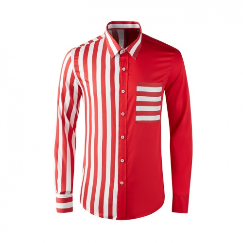 Thom Browne TB Shirts Long Sleeved Polo For Men #809015