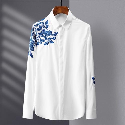 Armani Shirts Long Sleeved Polo For Men #809048