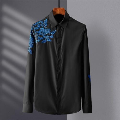 Armani Shirts Long Sleeved Polo For Men #809049