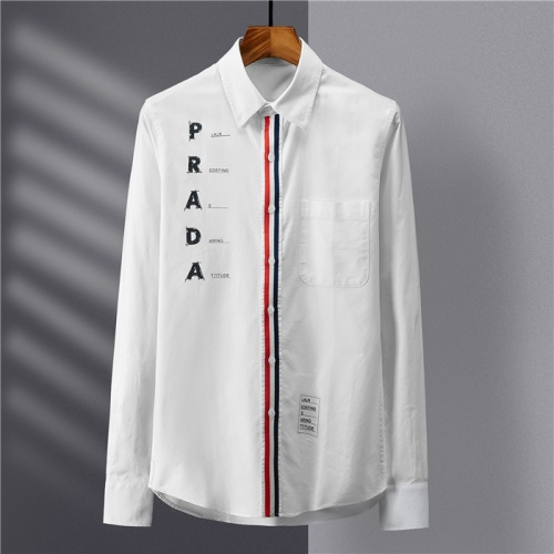 Prada Shirts Long Sleeved Polo For Men #809060