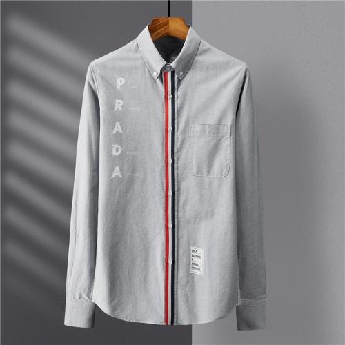 Prada Shirts Long Sleeved Polo For Men #809061