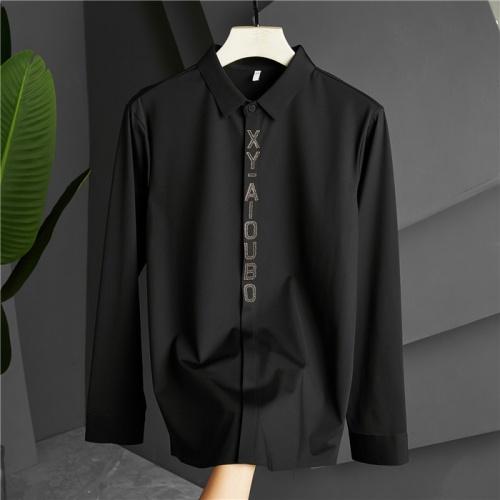 Armani Shirts Long Sleeved Polo For Men #809068