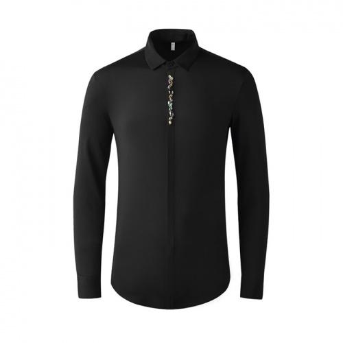 Armani Shirts Long Sleeved Polo For Men #809069