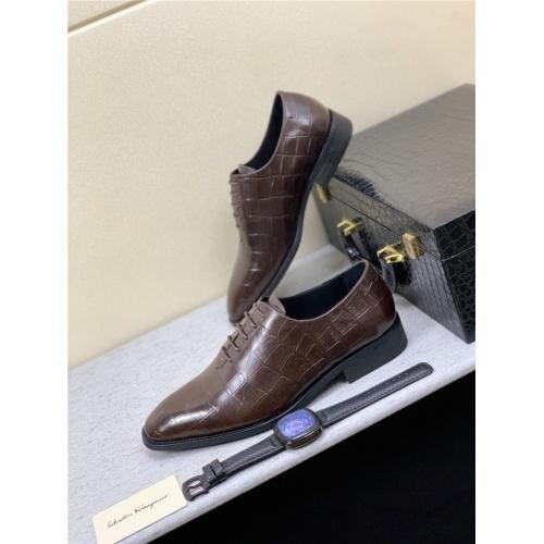 Ferragamo Salvatore FS Leather Shoes For Men #809077