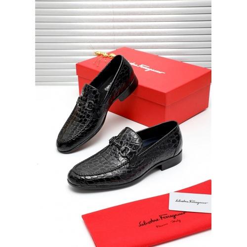 Ferragamo Salvatore FS Leather Shoes For Men #809504