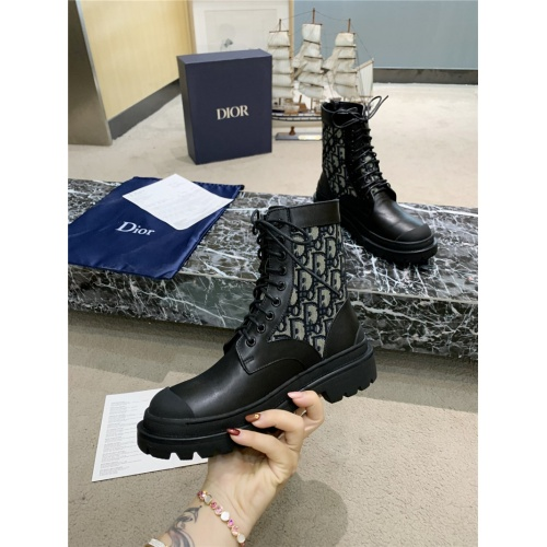 Replica Christian Dior Boots For Women #809573 $105.00 USD for Wholesale