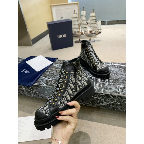 Replica Christian Dior Boots For Women #809574 $102.00 USD for Wholesale