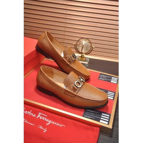 Ferragamo Salvatore FS Leather Shoes For Men #810168