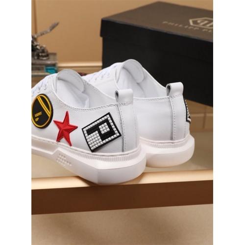 Replica Philipp Plein PP Casual Shoes For Men #810201 $76.00 USD for Wholesale
