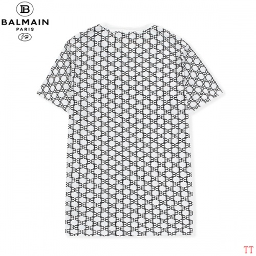 Replica Balmain T-Shirts Short Sleeved O-Neck For Men #810250 $27.00 USD for Wholesale