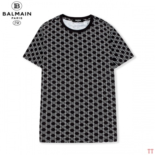 Balmain T-Shirts Short Sleeved O-Neck For Men #810251 $27.00 USD, Wholesale Replica Balmain T-Shirts