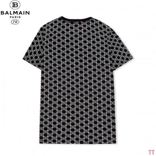 Replica Balmain T-Shirts Short Sleeved O-Neck For Men #810251 $27.00 USD for Wholesale
