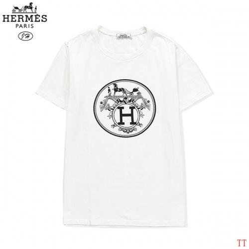 Hermes T-Shirts Short Sleeved O-Neck For Men #810266 $27.00, Wholesale Replica Hermes T-Shirts