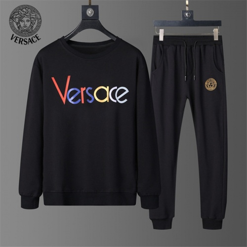 Versace Tracksuits Long Sleeved O-Neck For Men #810488 $56.00 USD, Wholesale Replica Versace Tracksuits
