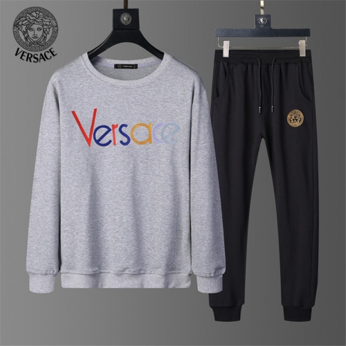 Versace Tracksuits Long Sleeved O-Neck For Men #810489 $56.00 USD, Wholesale Replica Versace Tracksuits
