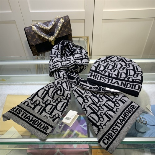 Christian Dior Scarf & Hat Set #810563